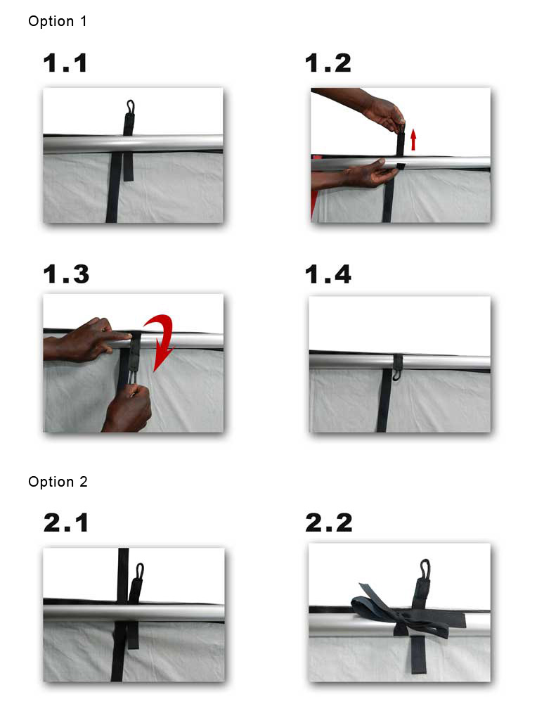 Hanging instructions for backdrops